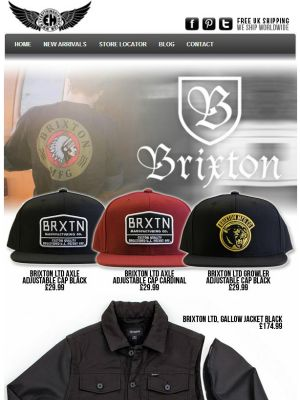 Brixton Clothing - Holiday 2013 just arrived.   Get value for money with this collection including reversible sweaters, convertible jackets and more.   http://everythinghiphop.com/brixton/