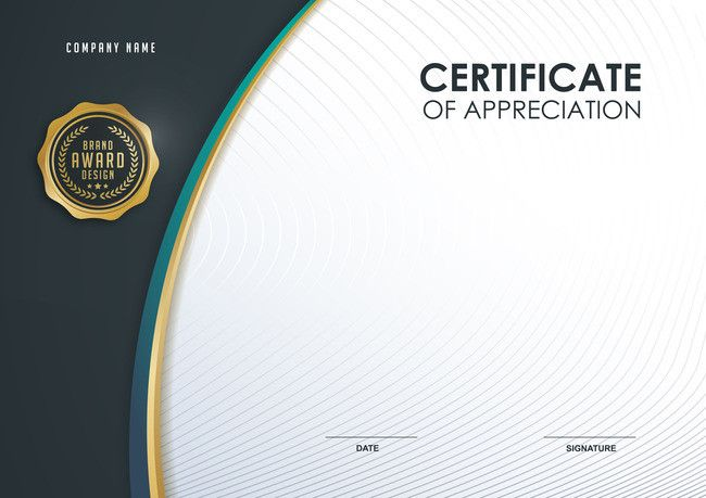 simple business brand design background certificate in