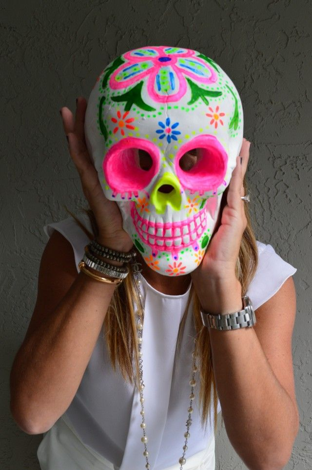 LOVE this DIY Dia de los Muertos from Michael's craft store.