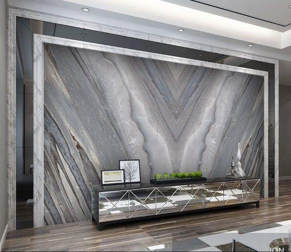 Dark Marble 3d Photo Vinyl Wallpaper Self Adhesive Peel And Etsy In 2020 Living Room Background Vinyl Wallpaper Tv Room Design