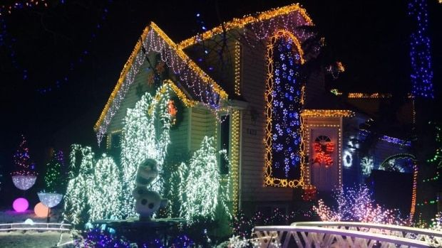 Bob The Carpenter Lights Up Edmonton Home With Eccentric Christmas Display Cbc News Christmas Lights Lights Christmas Display