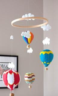 Balloon felt baby mobile
