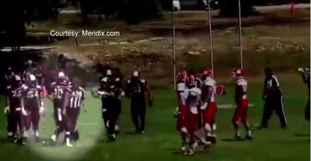 Texas High School Football Player's Reaction to Referee Throwing Penalty Flag Got Him Ejected Fast - http://www.theblaze.com/stories/2015/09/14/texas-high-school-football-players-reaction-to-referee-throwing-penalty-flag-got-him-ejected-fast/?utm_source=TheBlaze.com&utm_medium=rss&utm_campaign=story&utm_content=texas-high-school-football-players-reaction-to-referee-throwing-penalty-flag-got-him-ejected-fast