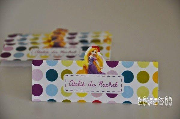 Lapela para saquinho de guloseimas - Rapunzel  :: flavoli.net - Papelaria Personalizada :: Contato: (21) 98-836-0113  vendas@flavoli.net