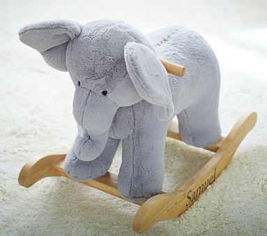 Elephant Plush Rocker #pbkids And you can get the name monogramed on the bottom