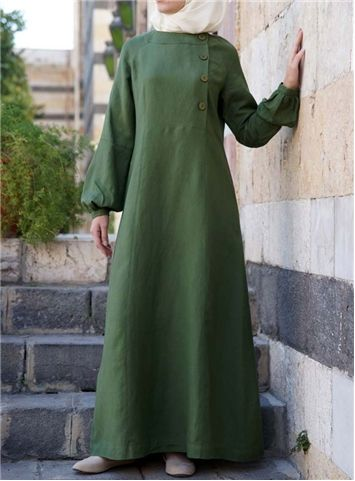 Aaqilah Linen Dress - Shukr