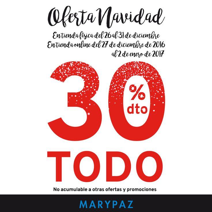 TODO 30% DTO. ¡¡OFERTA NAVIDAD by MARYPAZ!! En tiendas y MARYPAZ.COM  #SoyYoSoyMARYPAZ #Follow #winter #love #fashion #colour #tendencias #marypaz #locaporlamoda #BFF #igers #moda #zapatos #trendy #look #itgirl #invierno #AW16 #igersoftheday #girl  **Promoción válida hasta el 31 de diciembre en tiendas físicas y 02 de enero en online.