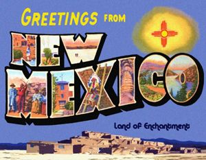 Greetings From New Mexico Custom Postcard Welcome to NM Legends NM Articles from Legends
