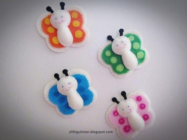 Gülistan: Kelebekli Buzdolabı Süsü / Butterfly Magnets