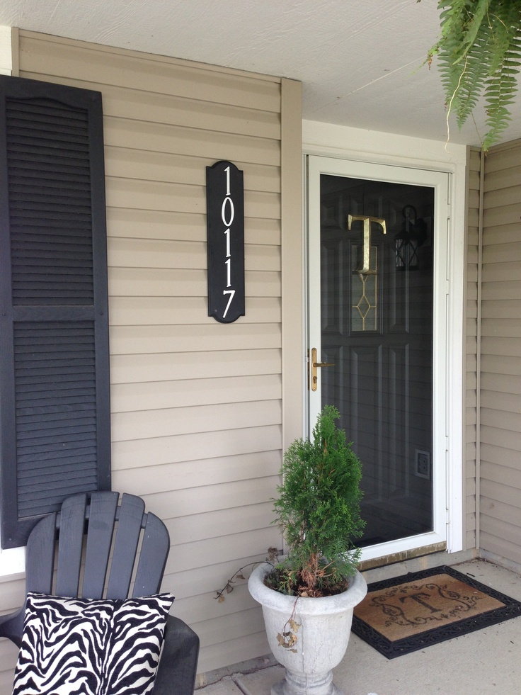 Easy Under 20 House Number Sign 7 Plain Wood Plaque At Hobby Lobby Left Over Black Paint 1