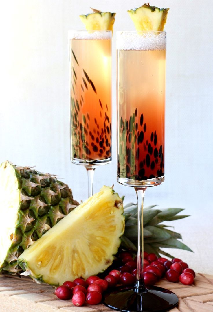 Make this Island Champagne Cocktail for your next happy hour!