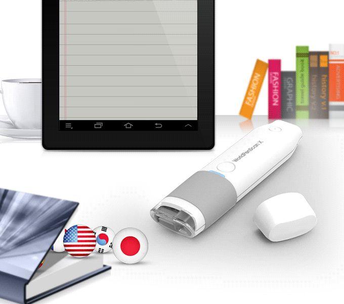 Bluetooth ručný skener a prekladač - WorldPenScan X - okamžite preloží a vyslovuje oskenovaný text.