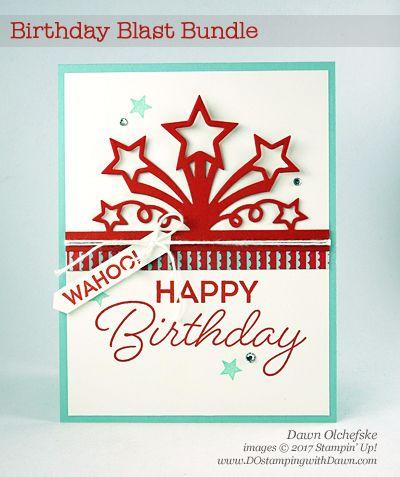 Stampin' Up! Birthday Blast Bundle card created by Dawn Olchefske for DOstamperSTARS Thursday Challenge #DSC216 #dostamping