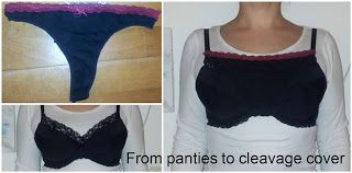 Cleavage covers from thongs and panties refashion http://saga-i-farver.blogspot.dk/2016/01/fold-dine-trusser-rundt-om-bhen-og-se.html