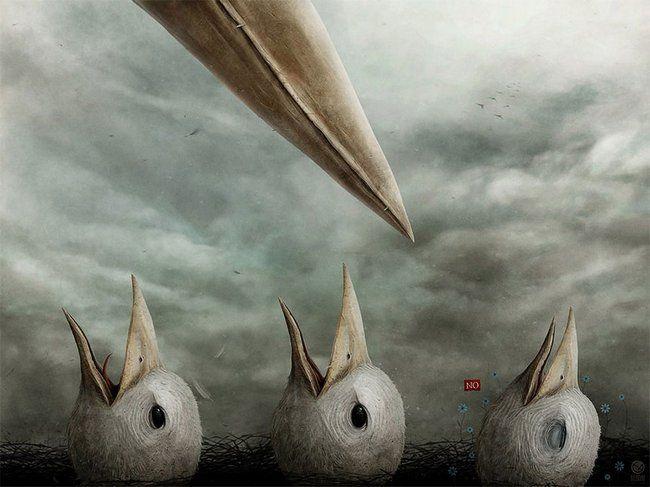 As incríveis pinturas depressivas e obscuras de Anton Semenov | Curioso Sábio