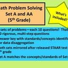 Add some problem solving to your math routine and help prepare your kiddos for the rigor of the Texas STAAR test! This download contains 20 problem...