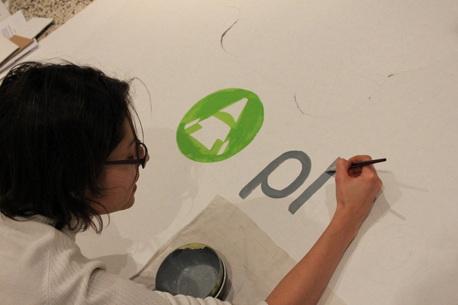 """Making-of: I was painting plicopá brand at """"PLICOPÃO"""" display, our guerrilla mkt http://igg.me/at/plicopa"""