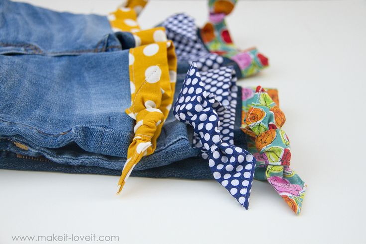 Поделки обрезанные джинсы...ткань с подолом и боковой узел | через сделать это и люблю его