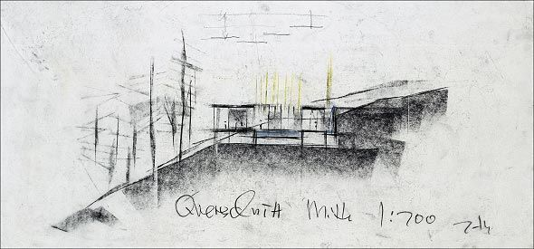 Drawings by Peter Zumthor. Therme Vals.