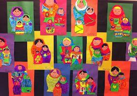 sandra's savvy teaching tips: Matryoshka Doll Art Lesson