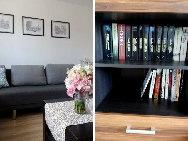 Orzeszkowe Pole: Akcja przeprowadzka - Pokój dzienny #livingroom #ideas #DIY #makeover #renovation #onabudget #decoration #inspiration #grey #white #before #after #simple #modern #sofa #withtv #coutch #minimalist #interior #pillows #TV #home