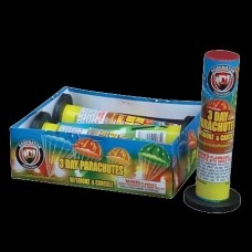 """$AVE 10% OFF WITH COUPON CODE """"easter'  EXPIRES EASTER DAY  Wholesale Fireworks 3 Day Parachute With Smoke Case 18/4"""