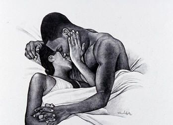 Black Love Art Prints & Posters - Black Romance Art