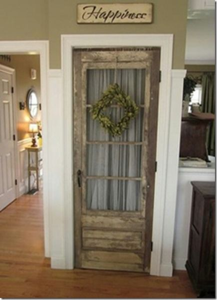 Great way to integrate an old door into your home