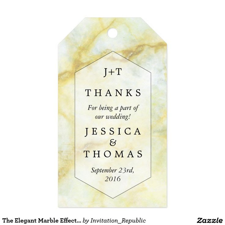 The Elegant Marble Effect Wedding Collection Favor Gift Tags