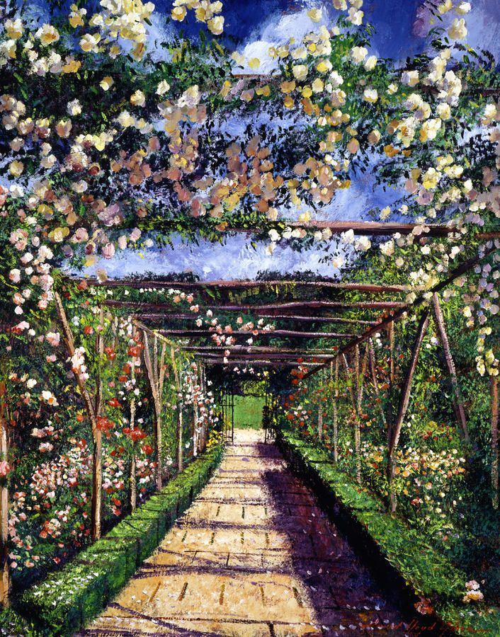 Rose trellis painting