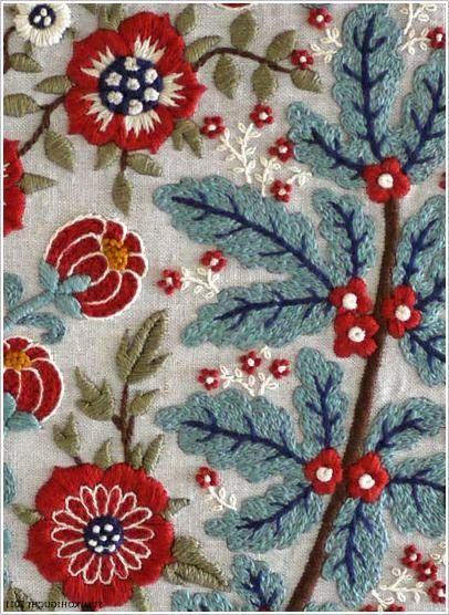 Чудесная вышивка гладью от Юмико Хигучи,  Embroidery