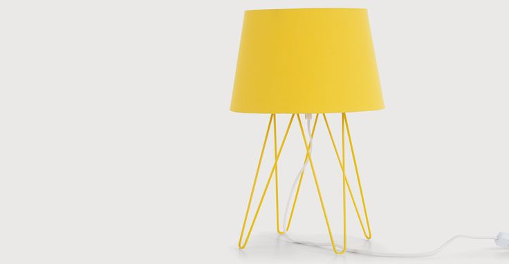 Collins Table Lamp, Ochre Yellow