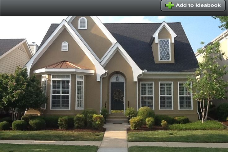 Beautiful stucco cottage style home i 39 d add stone accents for Stucco homes with stone accents