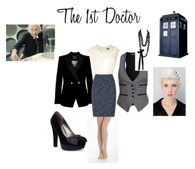 """""""The 1st Doctor"""" by nchavez113 ❤ liked on Polyvore featuring Denham, Ted Baker, Sally Phillips, G by Guess, Phase Eight and Pure + Good"""