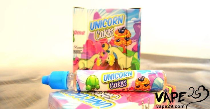 Unicorn Cakes by Vape Breakfast Classic, available for $18.99 per 30mL/ $44.99 per 3x30mL, in-store or online!