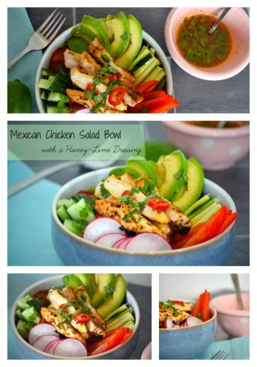 Mexican Chicken Salad with a Honey & Lime Dressing