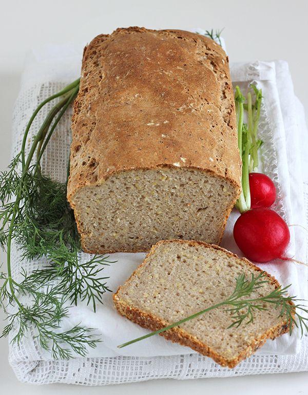 chleb żytni z kaszą jaglaną