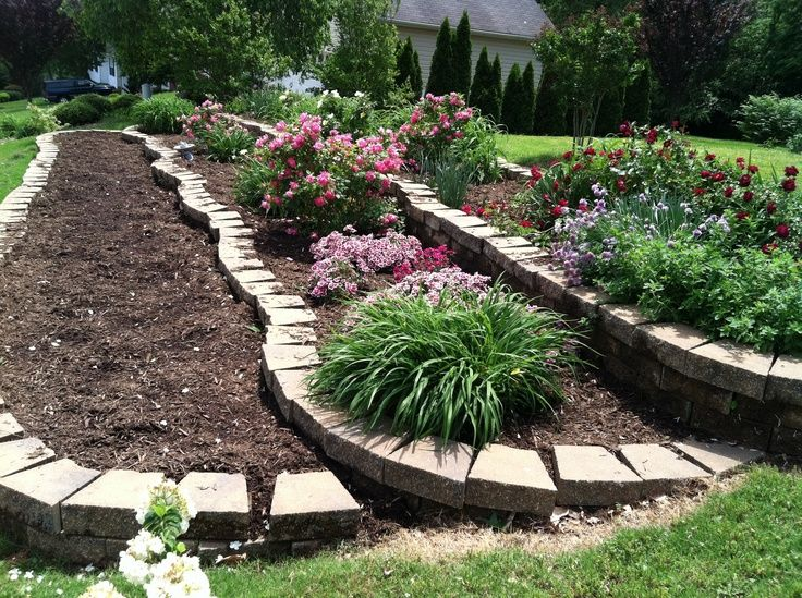 14 best Tiered gardens images on Pinterest | Backyard ... on Tiered Yard Landscaping id=25446