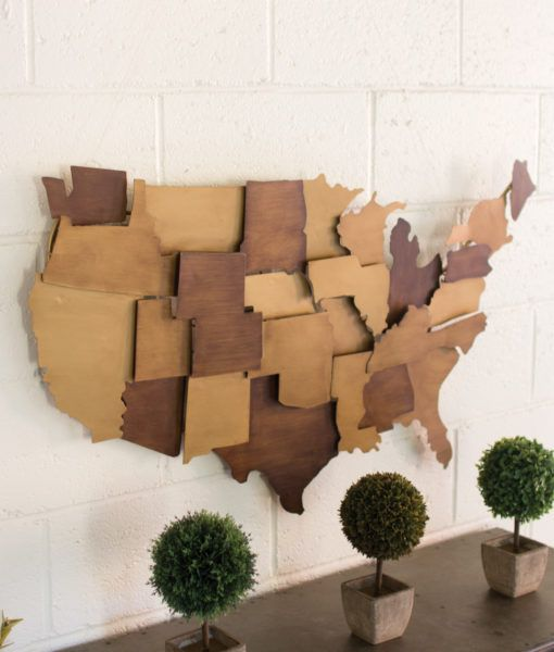 Painted Metal USA Wall Sculpture  $187.00