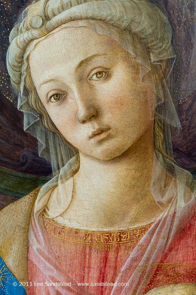 Lippi, Madonna con bambino, particolare