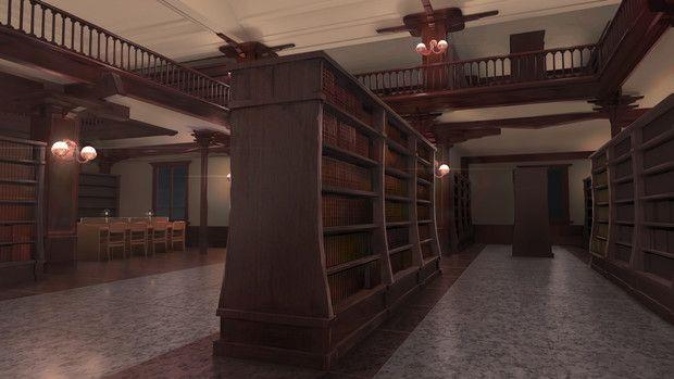 背景素材 図書館 佐藤 かんてら屋 さんのイラスト 素材 背景