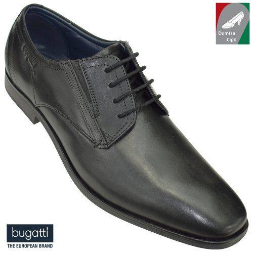 Bugatti férfi bőr cipő R3505-1-100 fekete