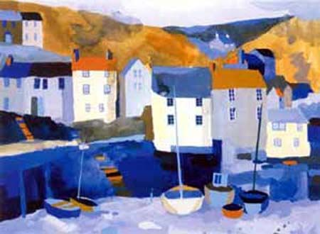 Winter Harbour, by Richard Tuff, 25 Colour silkscreen print