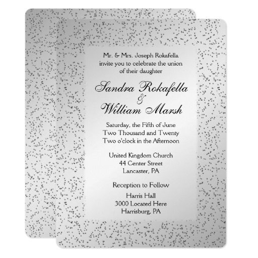 65 best silver gray wedding images on pinterest gray weddings Zazzle Bling Wedding Invitations silver glitter wedding invitation zazzle bling wedding invitations