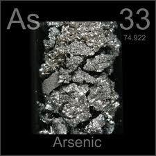 el arsenico(As) es un no metal venenoso que en algunos lugares se encuentra en el agua
