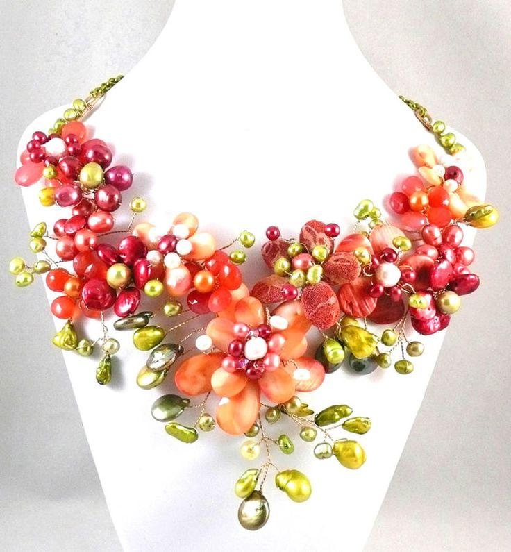 My Flower Garden - Jewelry creation by Madalynne Homme