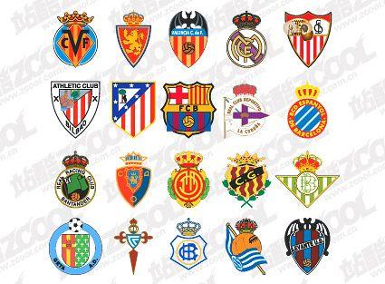 Spanish soccer clubs who will i cheer for my dream semester abraod pinterest - Logo club foot espagnol ...