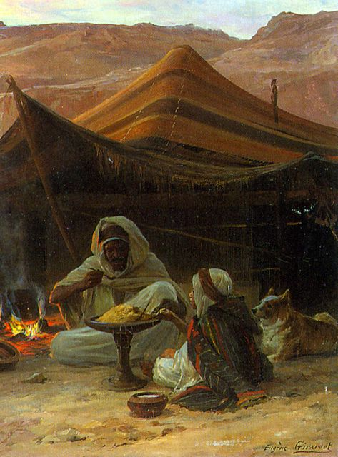 Bedouins in the Desert - Detail Man and Child by Enzie Shahmiri - Artist, via Flickr