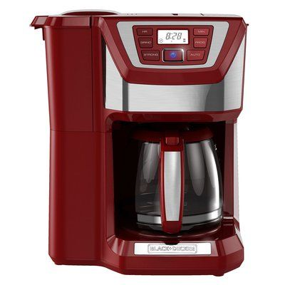 Black & Decker 12-Cup Mill and Brew Coffee Maker Color: Red