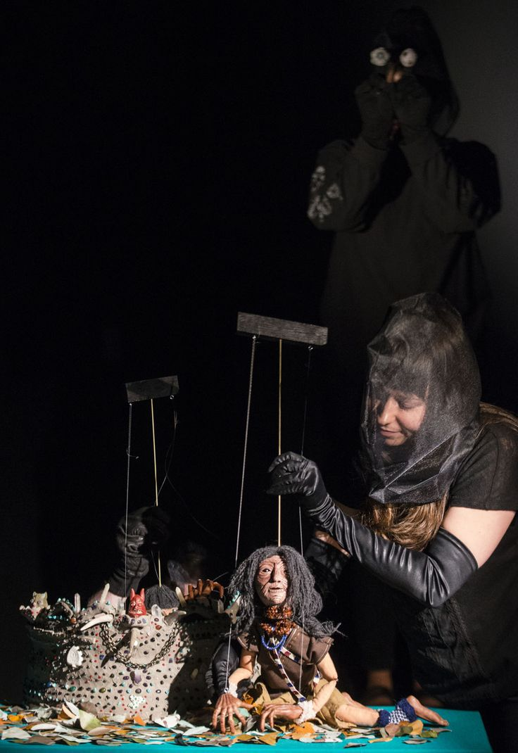 Puppet performance The Coming of Spring by Canadian artist Lindsay Montgomery 2014